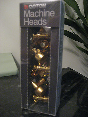 Gotoh 381 series 6x inline Gold tuning machine heads - brand new, made in Japan