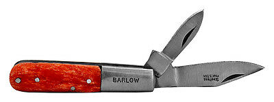 Barlow Two Blade Pocket Knife Orange Bone Handle NEW Barlow-K-OBN