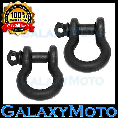 """3//4/"""" D-Ring Bow Shackle 4.75Ton w BLUE Pin Recovery Tow Jeep Off Road 4x4 CJ 4"""