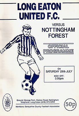 1995/96 Long Eaton United v Nottingham Forest, friendly, PERFECT CONDITION