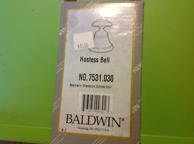 Baldwin Hostess Bell No. 7531.030 Classic Collection in box USA
