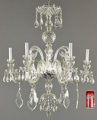 Czechoslovakian Crystal Chandelier c1930 Vintage Antique Glass French Style