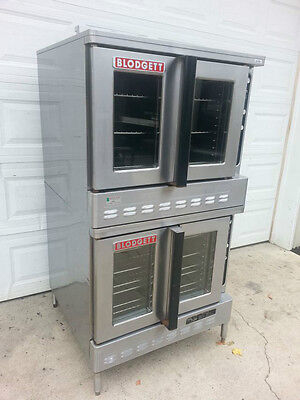 Blodgett DFG-100-3 Double Stack Gas Convection Oven Dual Flow Commercial NSF