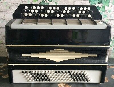 VINTAGE Rare Soviet Russian USSR piano  Accordion akkordeon Belorys bayan bass
