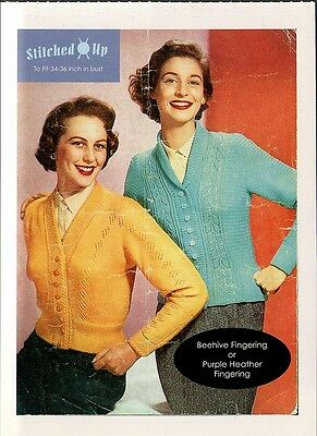 (17337) Postcard - Knitting - To Fit 34 - 36 inch in bust