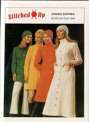 (17336) Postcard - Knitting - Double knitting 32 - 42 inch bust sizes