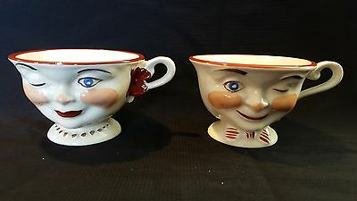1950s Lipton Winking Tea Cups from Staffordshire, England