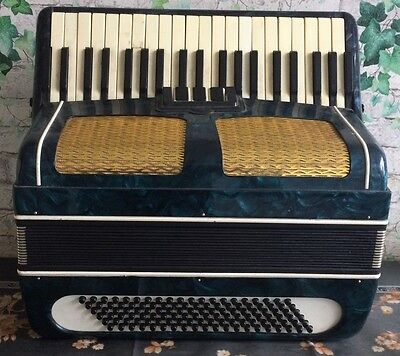 VINTAGE Rare Soviet Russian USSR  Accordion akkordeon bayan bass  piano