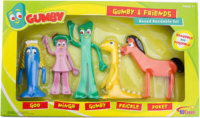 Gumby And Friends Bendable Boxed Set (2015, Toy NEW)