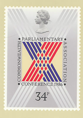 34435 PHQ Carte postale: Commonwealth Parlementaire Conférence 1986