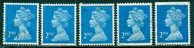Great Britain Sg-1451, Scott # Mh-178 Machin Used, 10 Stamps, Great Price!