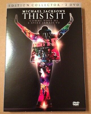 Michael Jackson This Is It Mega Rare French Collector 2x DVD Edition + 3D Passes