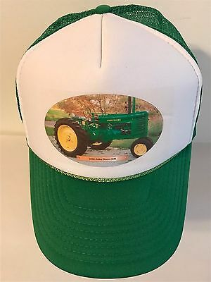 5c7e06a68c5 JOHN DEERE GREEN   WHITE 1946 TRACTOR Snap Back Mesh Trucker Baseball Hat