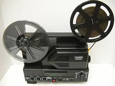 Chinon Sound SP-330  Super 8mm Projector - 18 24 FPS  - New Belts!