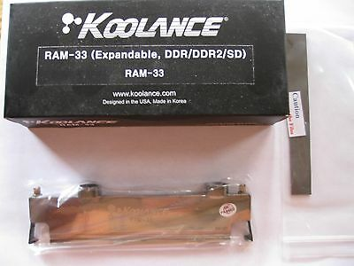 Koolance RAM-33 Water Block (Memory - Expandable, DDR/DDR2/SD)