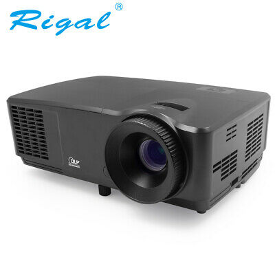 4000 Lumen Projector Home Theater Cinema LED/LCD HDMI AV TV VGA Full HD 10000:1