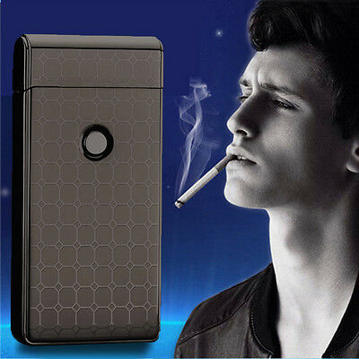Windproof Plasma SingleArc Electric Lighter Cigarette Flameless USB Rechargeable