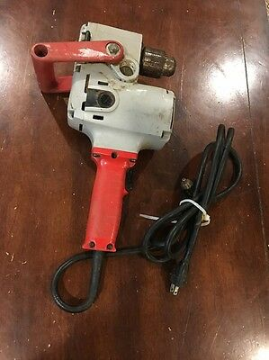 "Milwaukee 1/2"" Hole Hawg Drill 1675-01-Tool  1675-1 Plumbing Angle Drill"