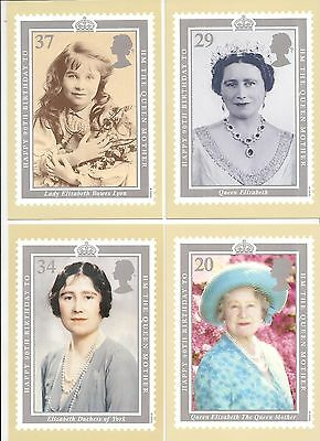 (93890) GB PHQ Postcards Queen Mother 90th Birthday 1990 mint