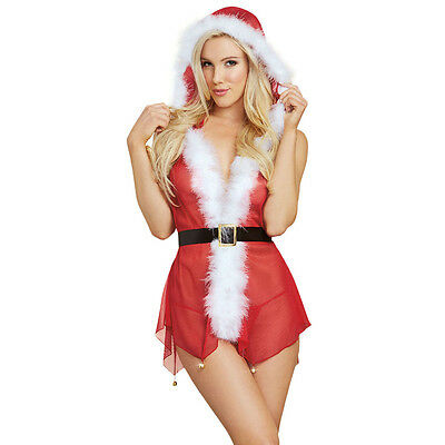 Miss Sexy Babbo Natale Donna Natale donna Signora Costume lingerie Costume
