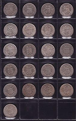 New Zealand Half Crown Set 1933 to 1965 all dates 21 Coins