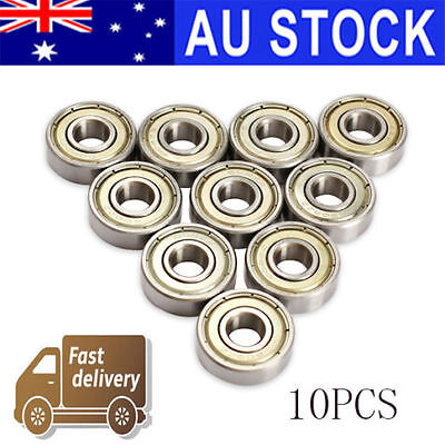10X Skate Ball Roller Bearings for Skateboard 3D Printer RepRap 608ZZ ABEC-5 AU