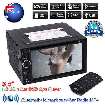 IN DASH 2DIN Car Radio Stereo HD DVD Player GPS Quad Core Android 4.4 WIFI 3G AU