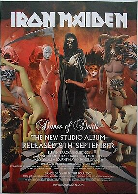 IRON MAIDEN Dance Of Death Rare Original 2003 Official UK Record Company POSTER