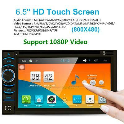 "Quad Core Android 4.4.4 Car GPS DVD Player Touch Screen WIFI 6.5"" HD 2 DIN Radio"
