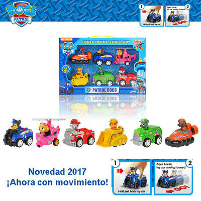 PATRULLA CANINA PACK 6 COCHES ACCION ANDAN IDEALES CENTRO MANDO PARKING  - 8 pp6