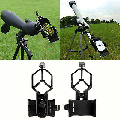 Spotting Scope Cell Phone Holder Astronomical Telescope Universal Stand Mount