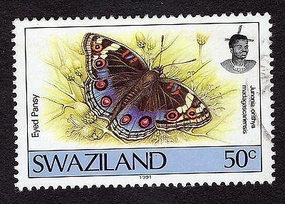 1992 Swaziland Butterflies 50c Precis orithya SG 614 FINE USED R29954
