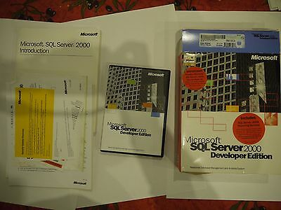 Microsoft SQL Server 2000 Developer Edition with SP3a