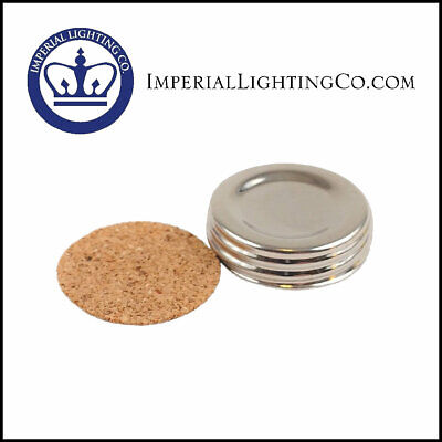 NICKEL FUEL FILLER CAP N120N STYLE with CORK GASKET fits ANTIQUE ALADDIN LAMPS