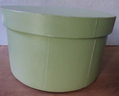 Heavy Duty Light Green Suede Hat Box Container Medium