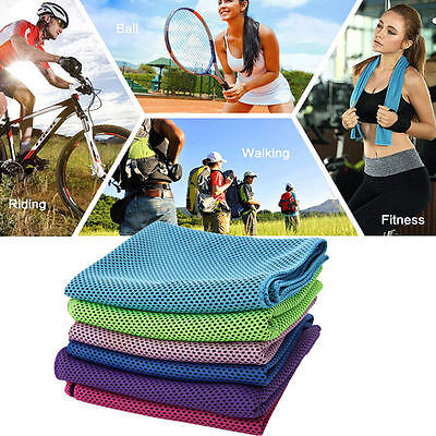 Running Gym Sports Towel Ice Cold Enduring Jogging Chilly Pad Instant Cooling