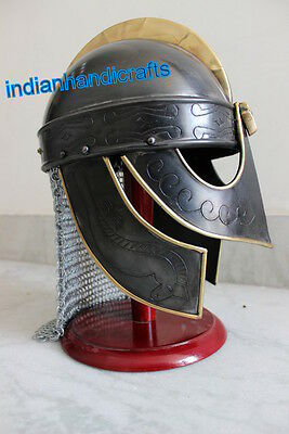 Collectibles Black Valasgrade Viking Helmet W/ Chainmail Black Antique Finish