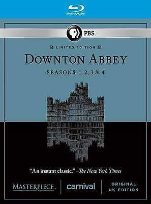 NEW Masterpiece: Downton Abbey - Seasons 1-4 (Blu-ray Disc, 2014, 11-Disc Set)