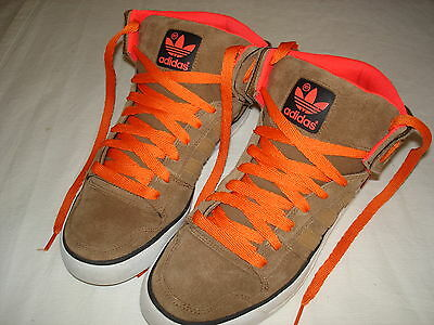Adidas Ledge Mid St Basketball Shoes Boots Size 9 Uk Suede Leather Brown