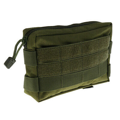 Outdoor Sport Nylon Molle Tactical Waist Bum Bag Phone Belt Loop Hook Fanny Pack