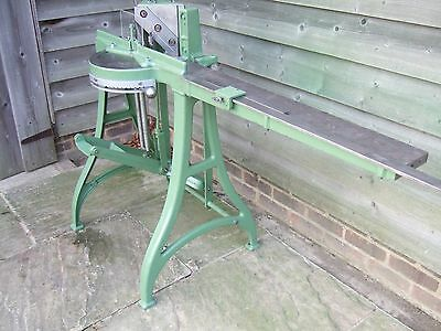 Morso F Foot Operated Mitre Cutter / Guillotine Imperial Model Engraved Scale