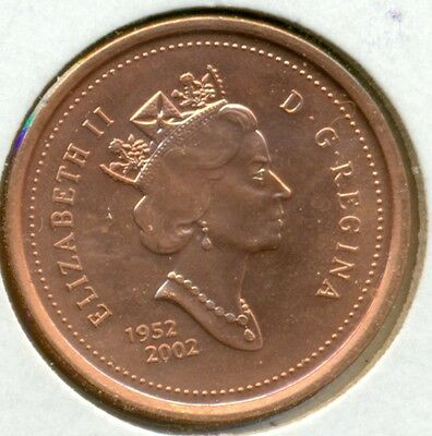 2002 Canada Small Cent, Choice Brilliant Uncirculated Red, Great Price!