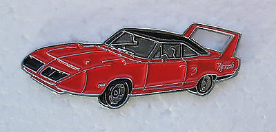 PLYMOUTH SUPERBIRD ENAMEL LAPEL PIN BADGE. 40x14mm. BUTTERFLY PIN FIXING