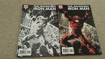 Invincible iron man 7 nm variant and super rare sketch variant