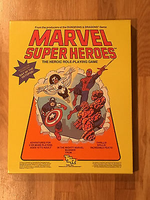 MARVEL SUPER HEROES Role Playing Games * TSR RPG * 1984 * Unused NEW 1st Edition