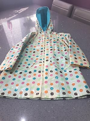 Roxy Girls Rain Coat Water Proof Age 4/5
