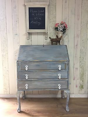 Beautiful Hand Painted Claw Foot And Ball Bureau