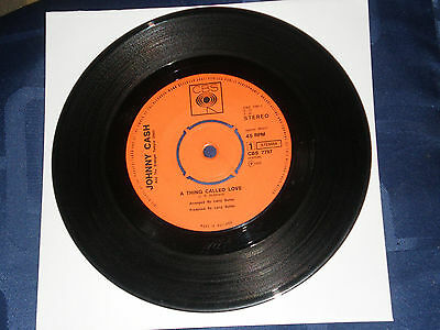 """Johnny Cash - A Thing Called Love - 1972 Dutch Cbs Label 7"""" Single - Vg+"""