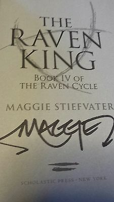 THE RAVEN KING Maggie Stiefvater  AUTOGRAPHED  HARDCOVER 1st ed