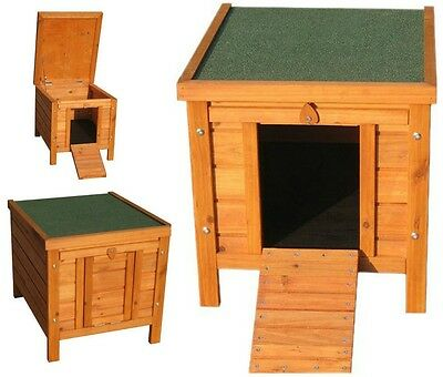 Small Dog House Wooden Pet Kennel Home Garden Indoor Outdoor Cat Den Pig Shelter